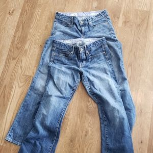 Gap Jean's two pairs.